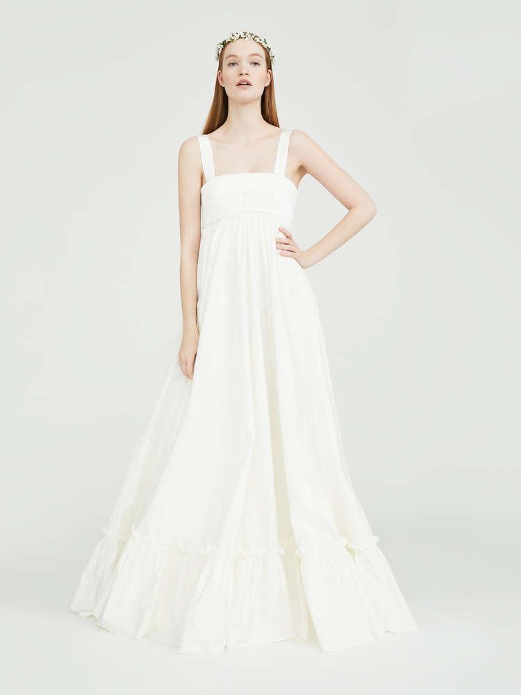 Satin and taffeta dress