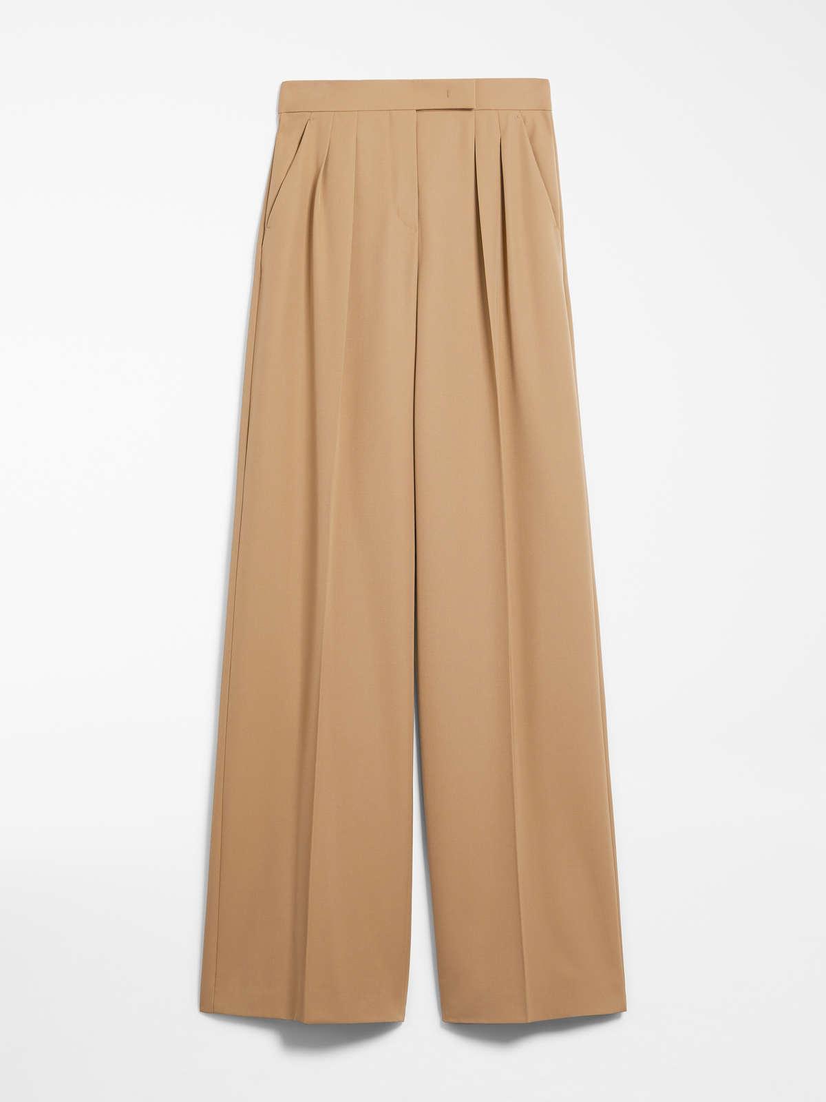 Gabardine Wool Trousers by Max Mara