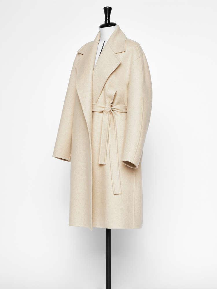 Cashmere felt coat