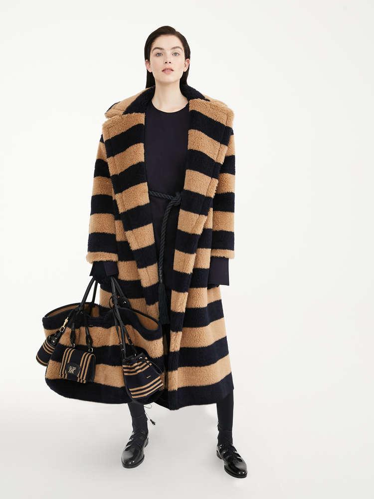 Mantel aus Alpaka, Wolle und Seide