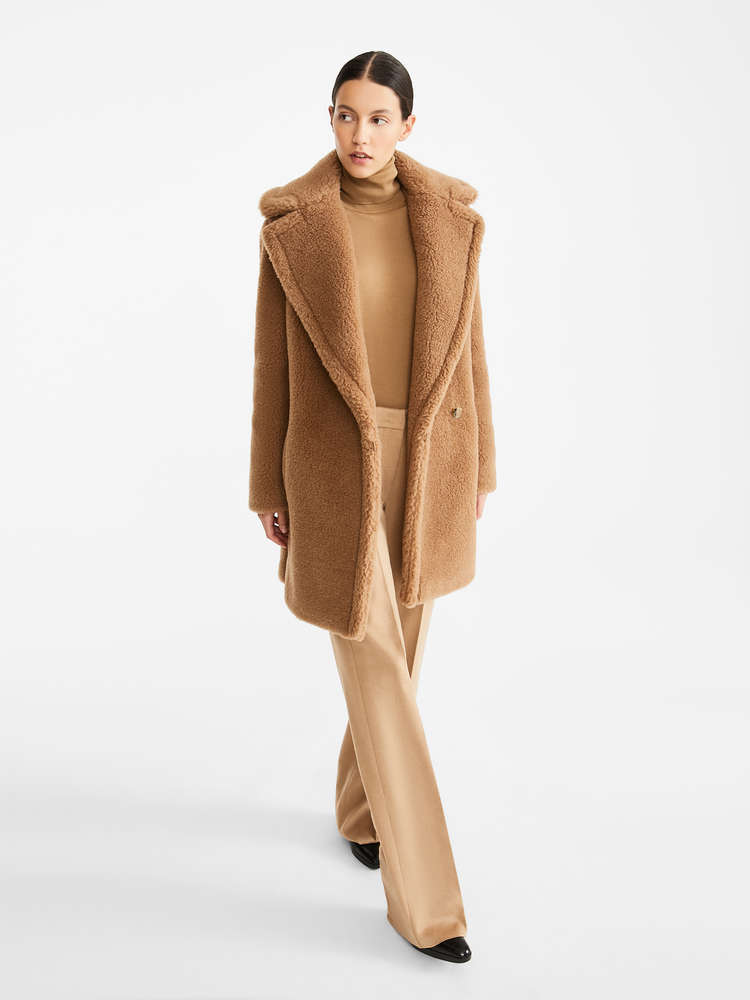 Camel and silk coat
