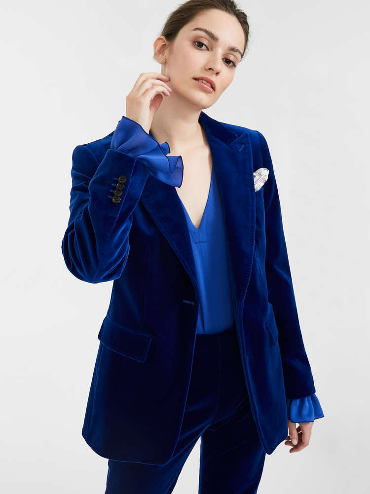 Cotton velvet blazer