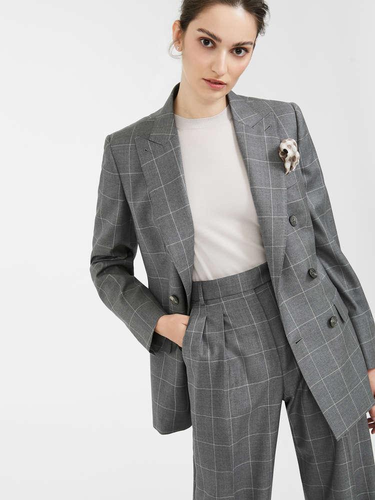 Blazer in wool twill