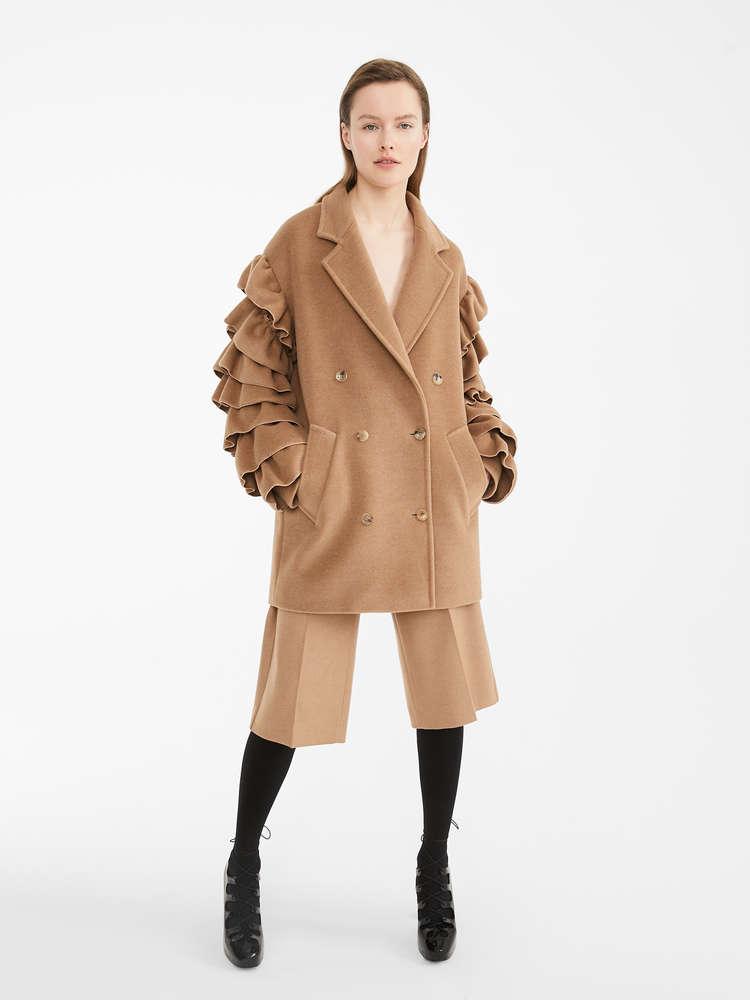Camel beaver pea coat