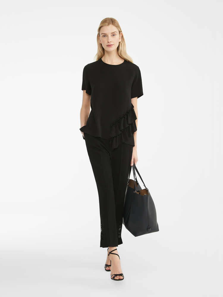 Blouse in washed silk