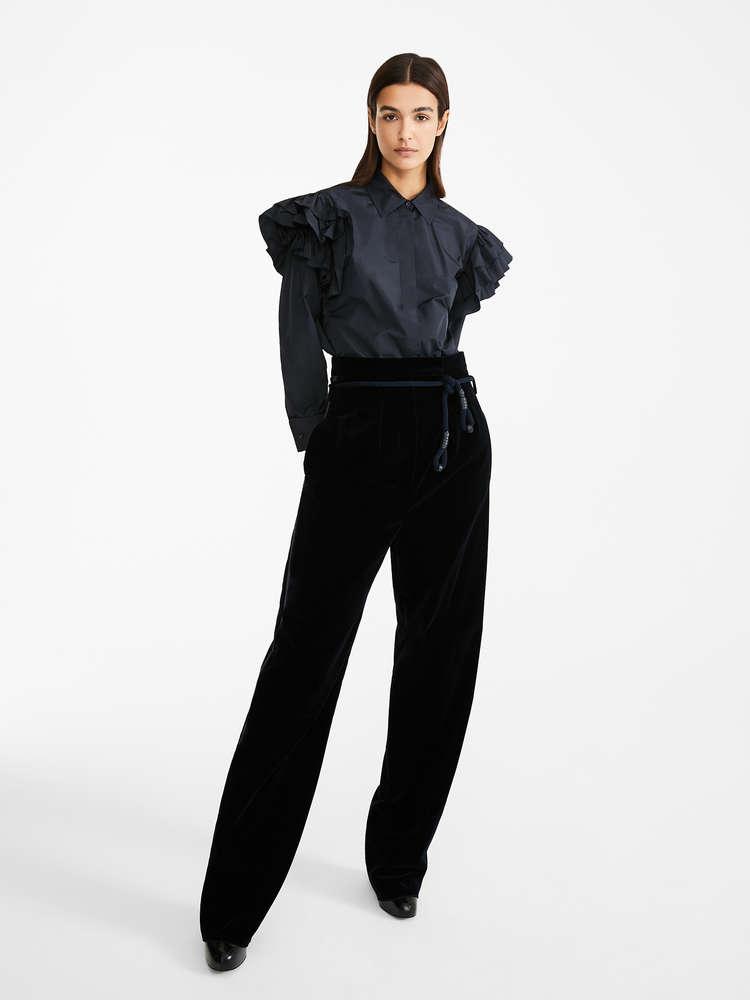 Silk taffeta shirt