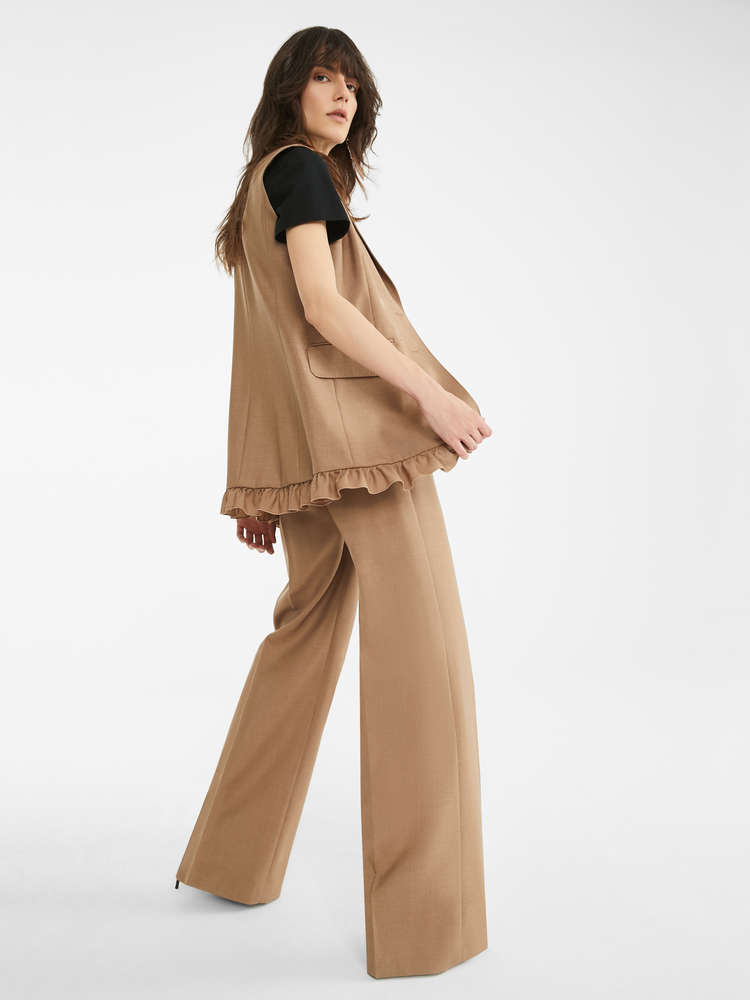 Silk and mohair trousers