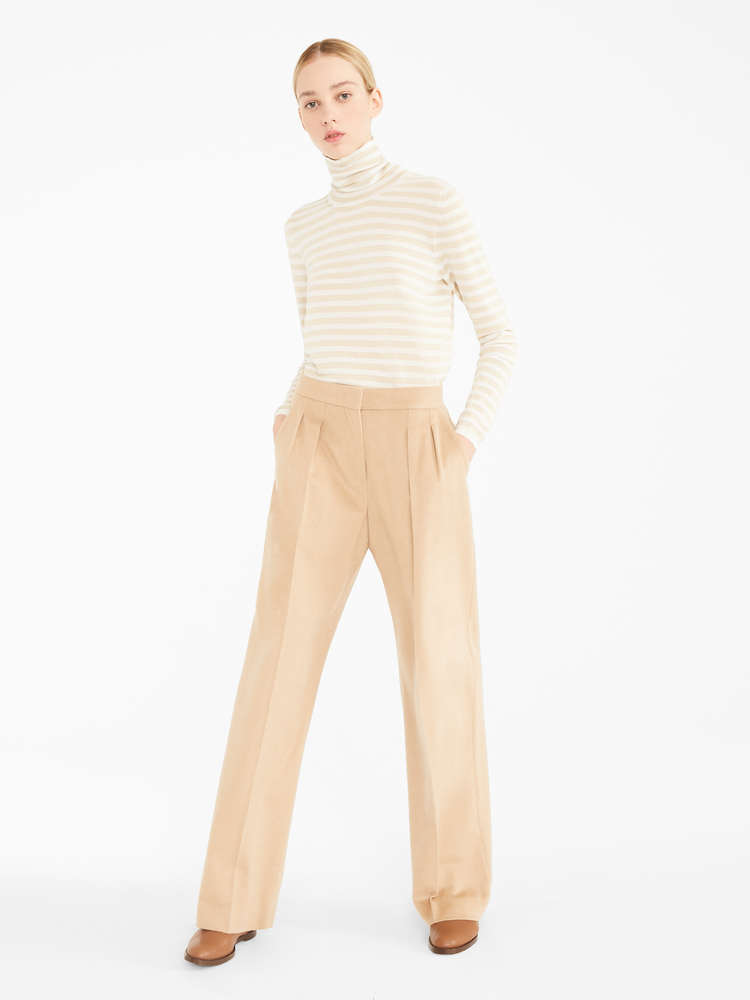 Camel and cashmere trousers