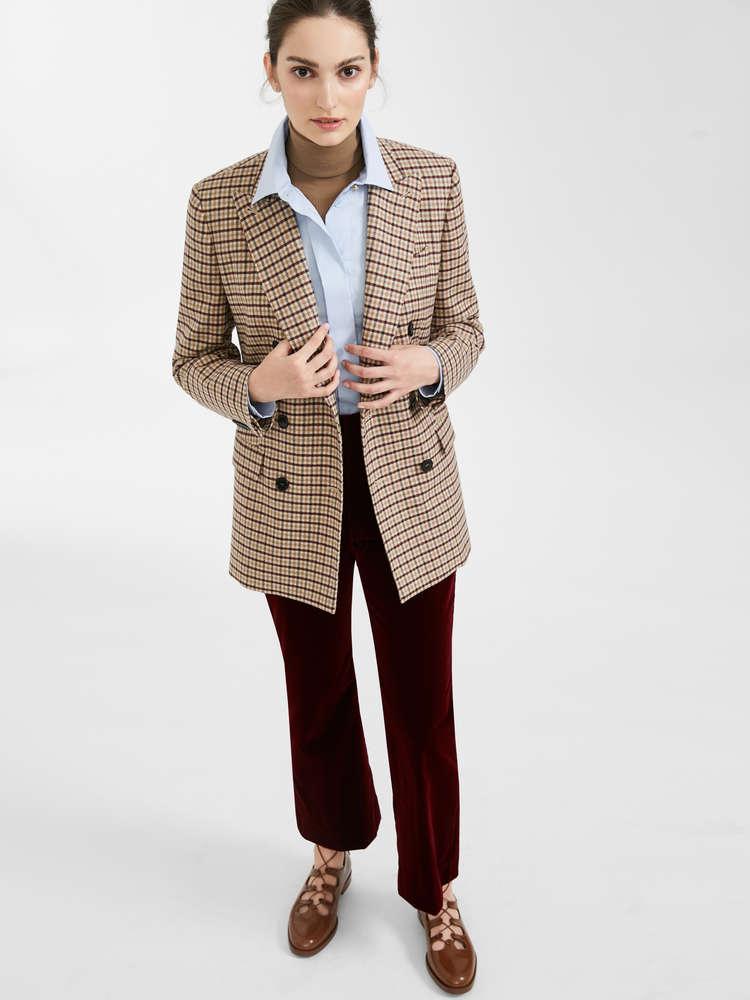 Wool granite trousers