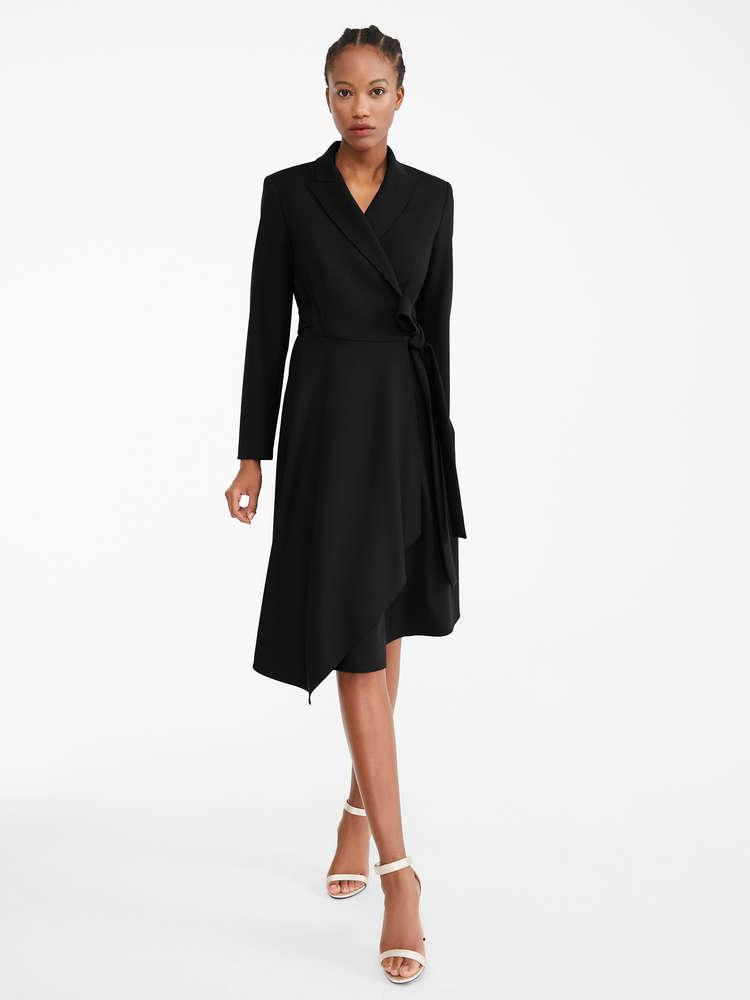 Wool crêpe dress