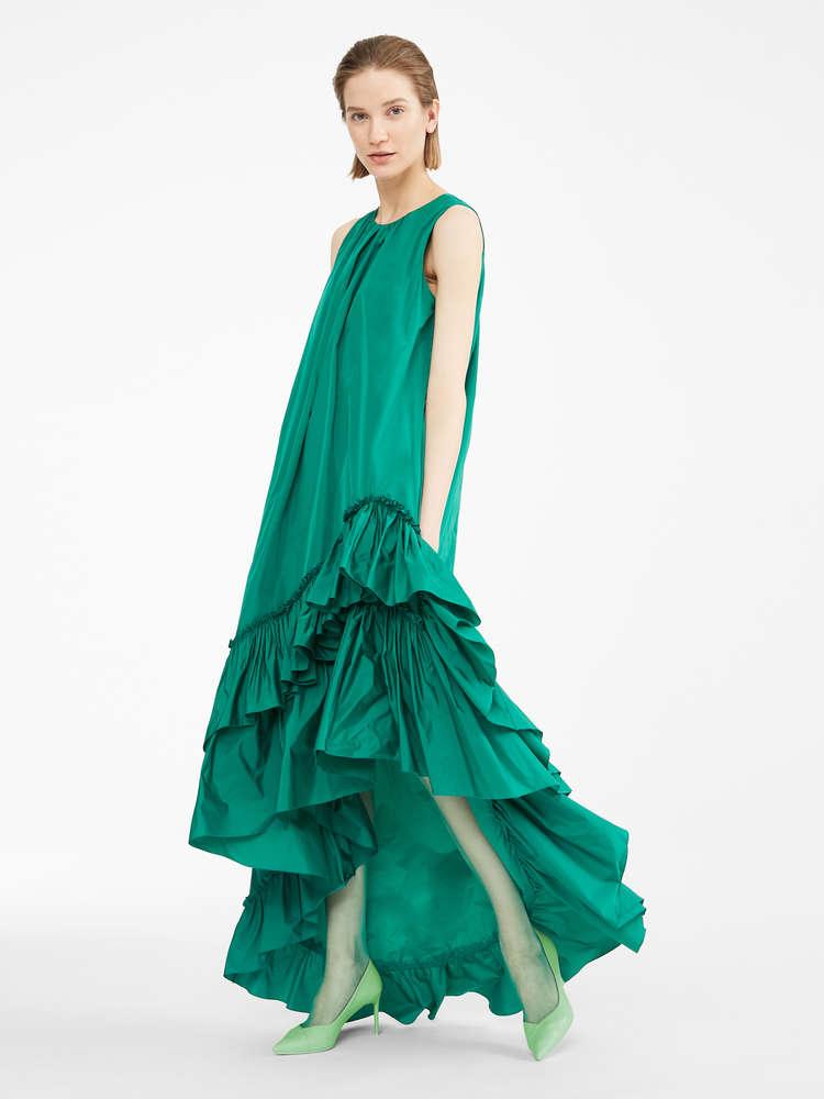 タフタ ロング ドレス