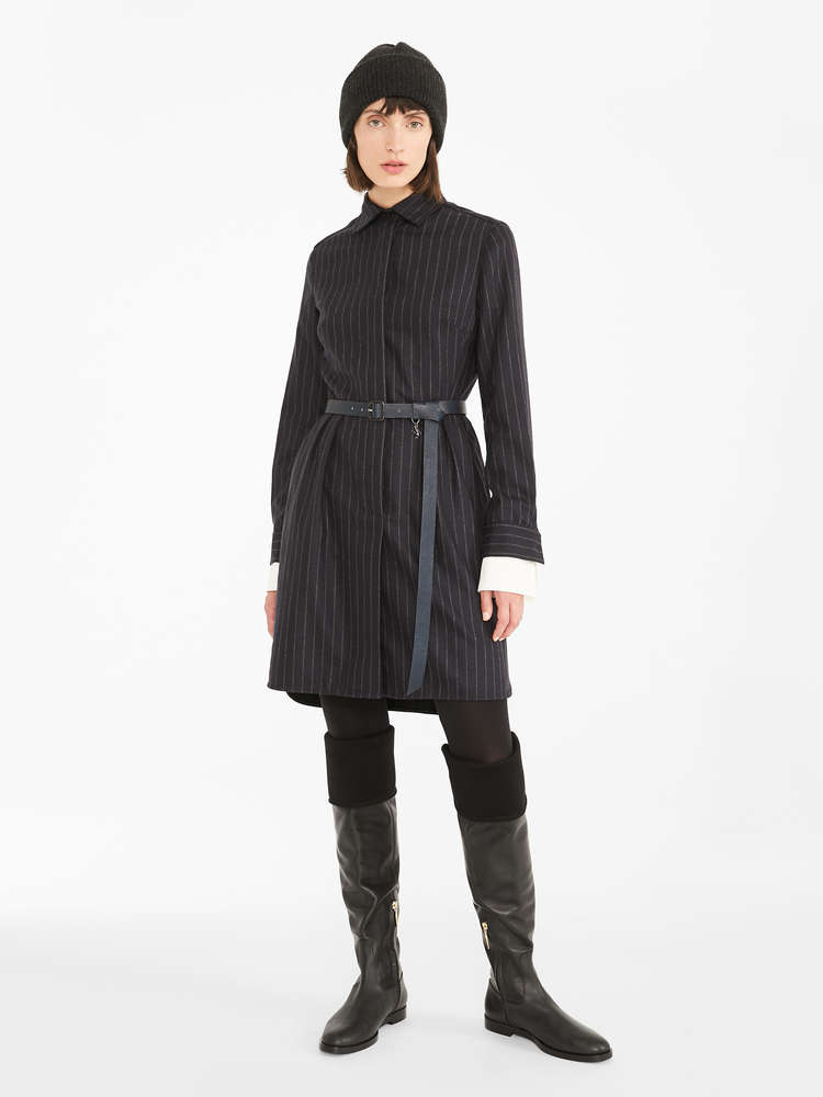 Cashmere and wool flannel dress