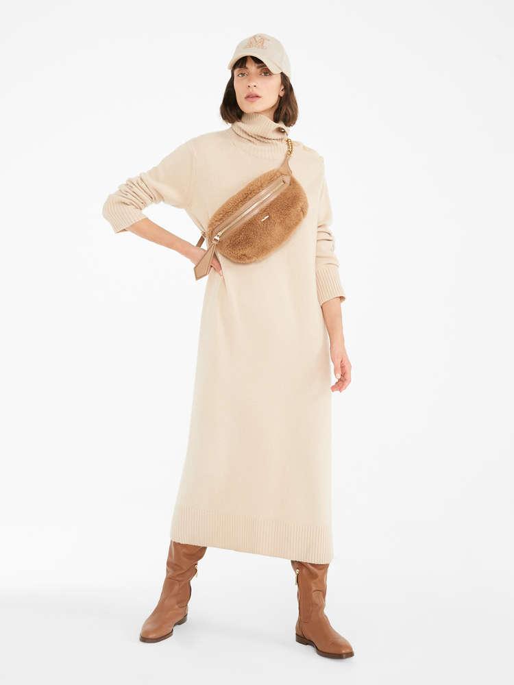 Wool and cashmere yarn dress