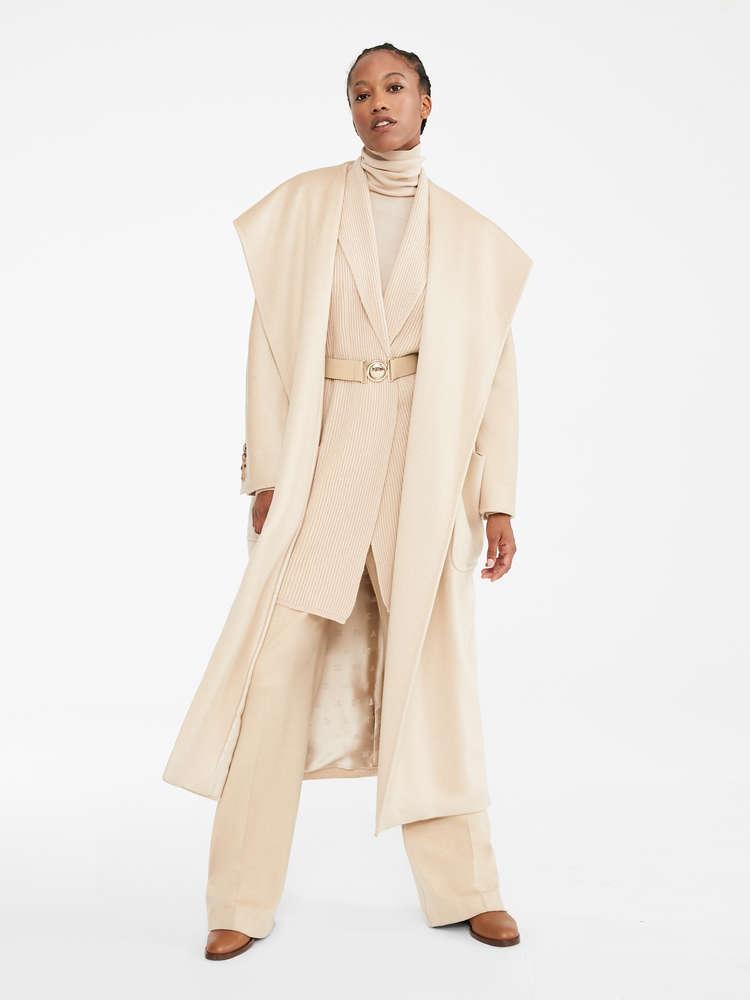 Wool and cashmere yarn cardigan