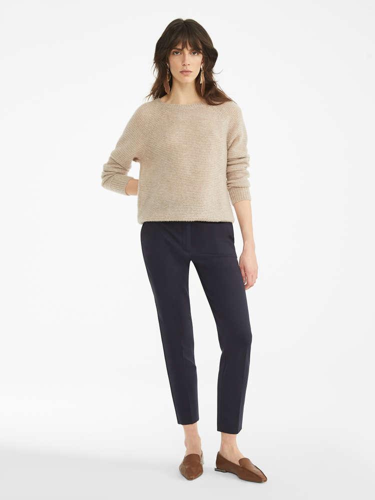 Cashmere and silk jumper