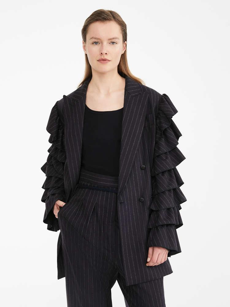 Wool-knit top