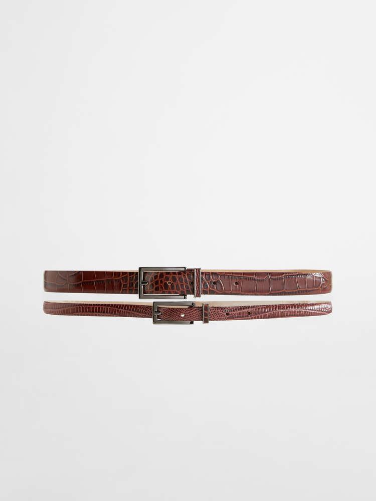 Double leather belt