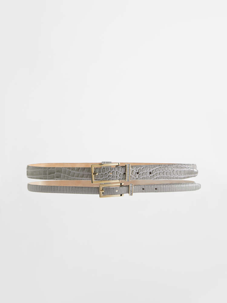 Double leather belt