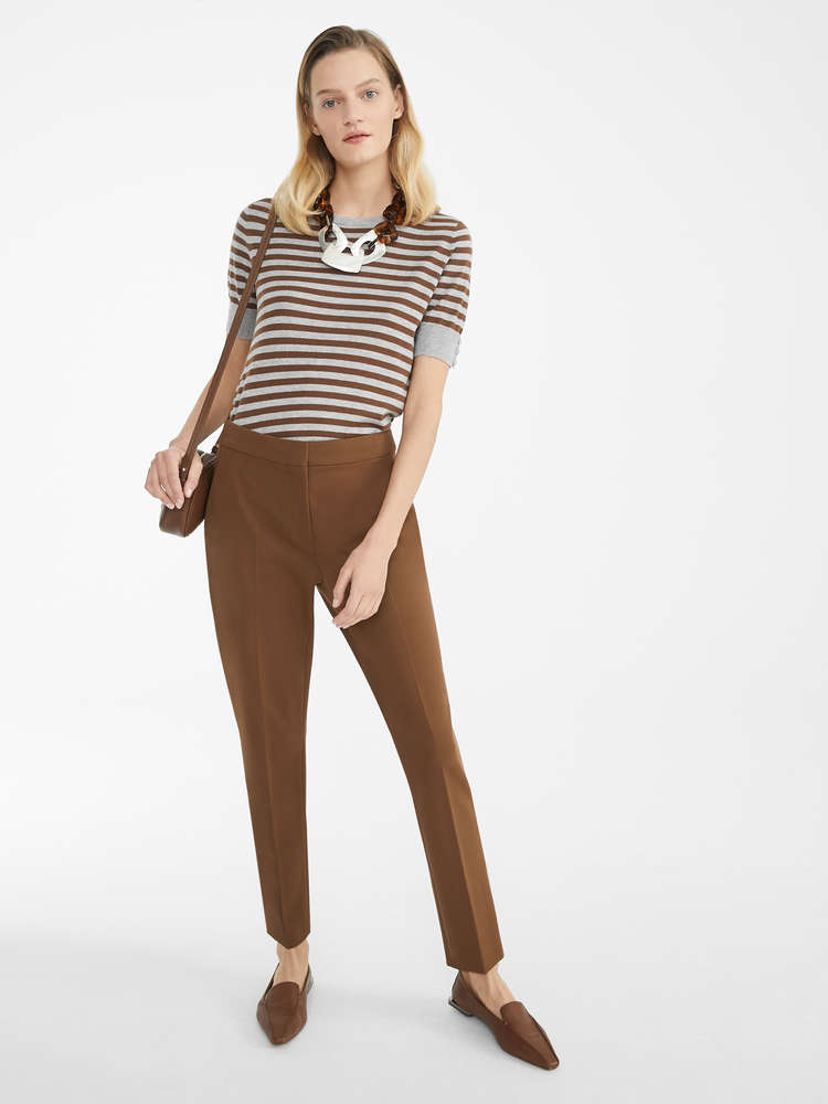 Viscose jersey trousers