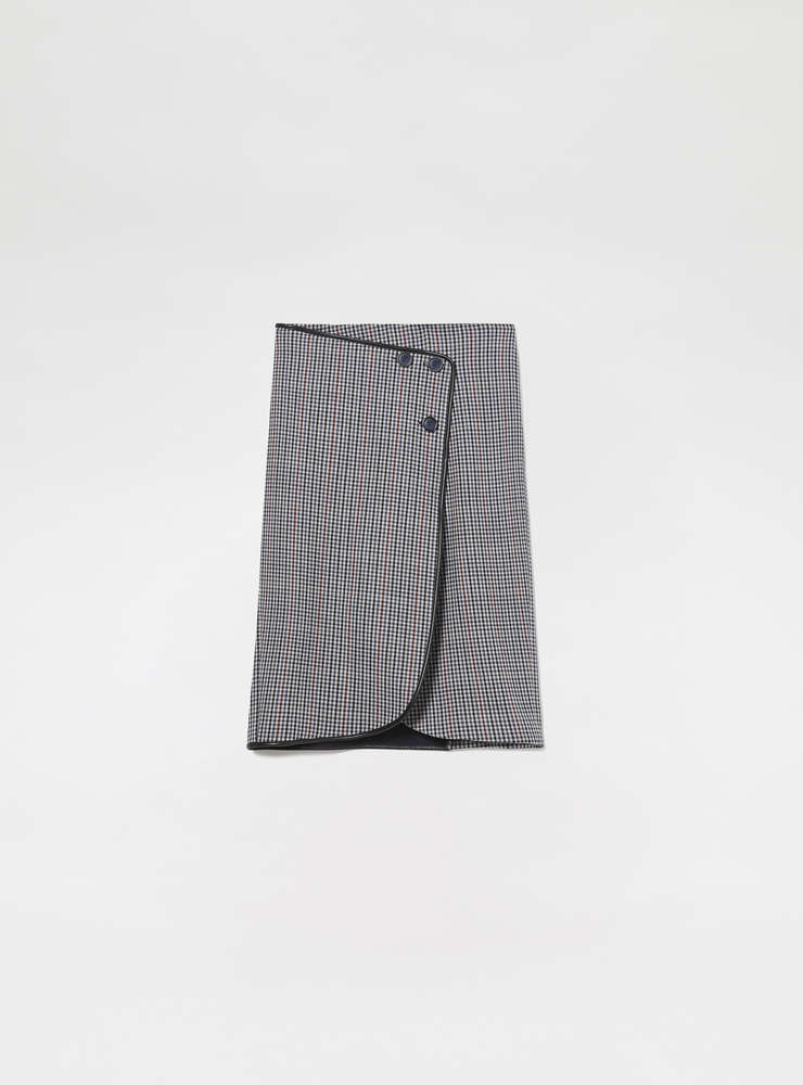 Wrap-over Wool Skirt