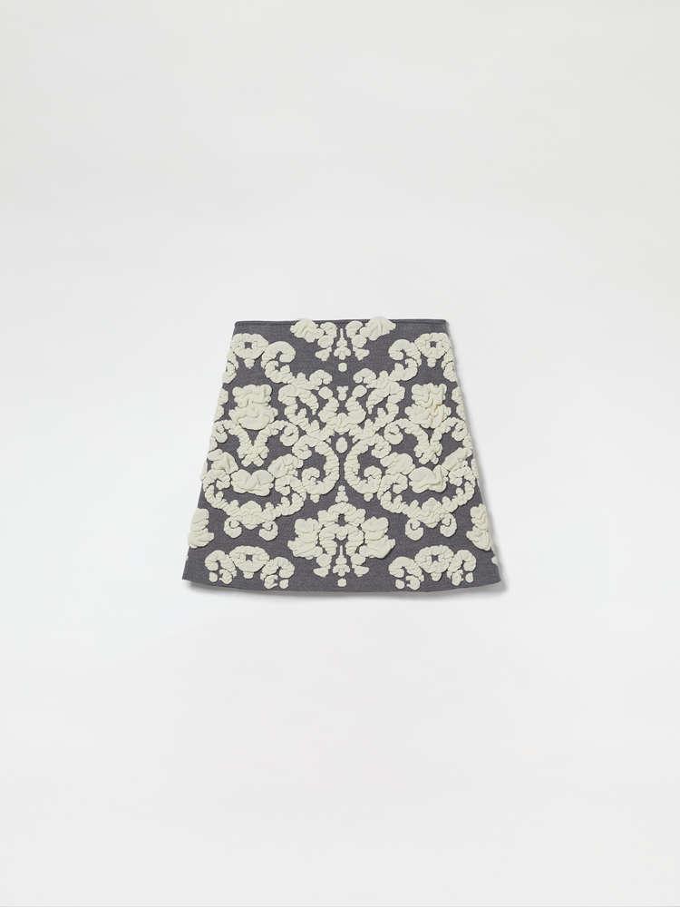 Velvet Jacquard Mini Skirt