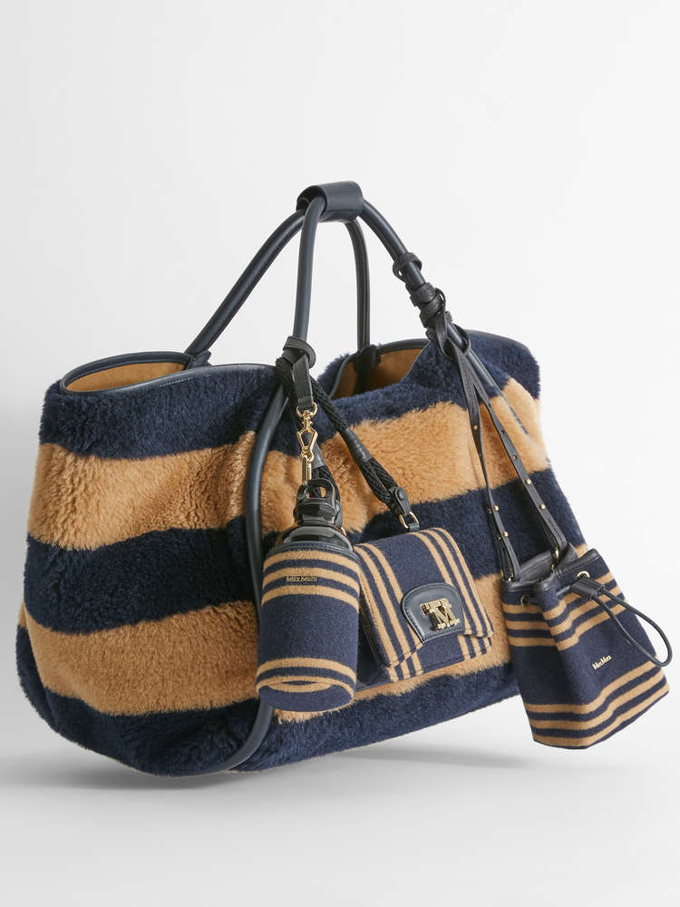 Alpaca, wool and silk shopper bag