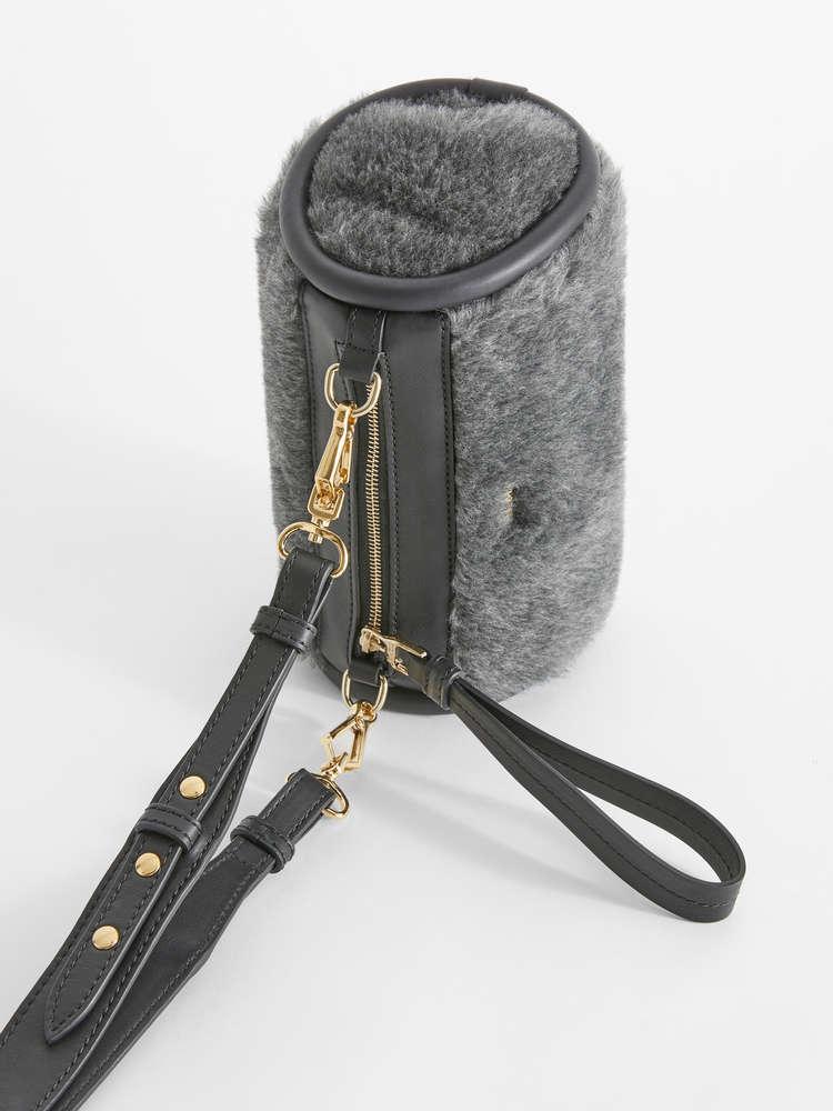 Alpaca, wool and silk clutch