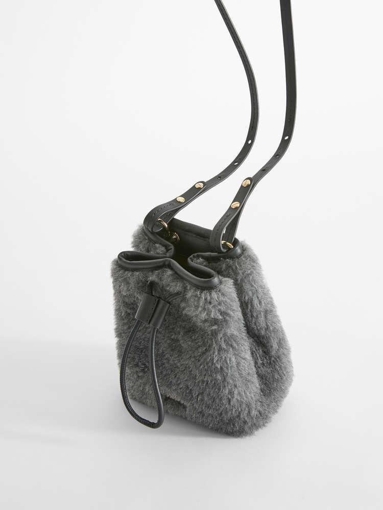 Alpaca, wool and silk bucket bag