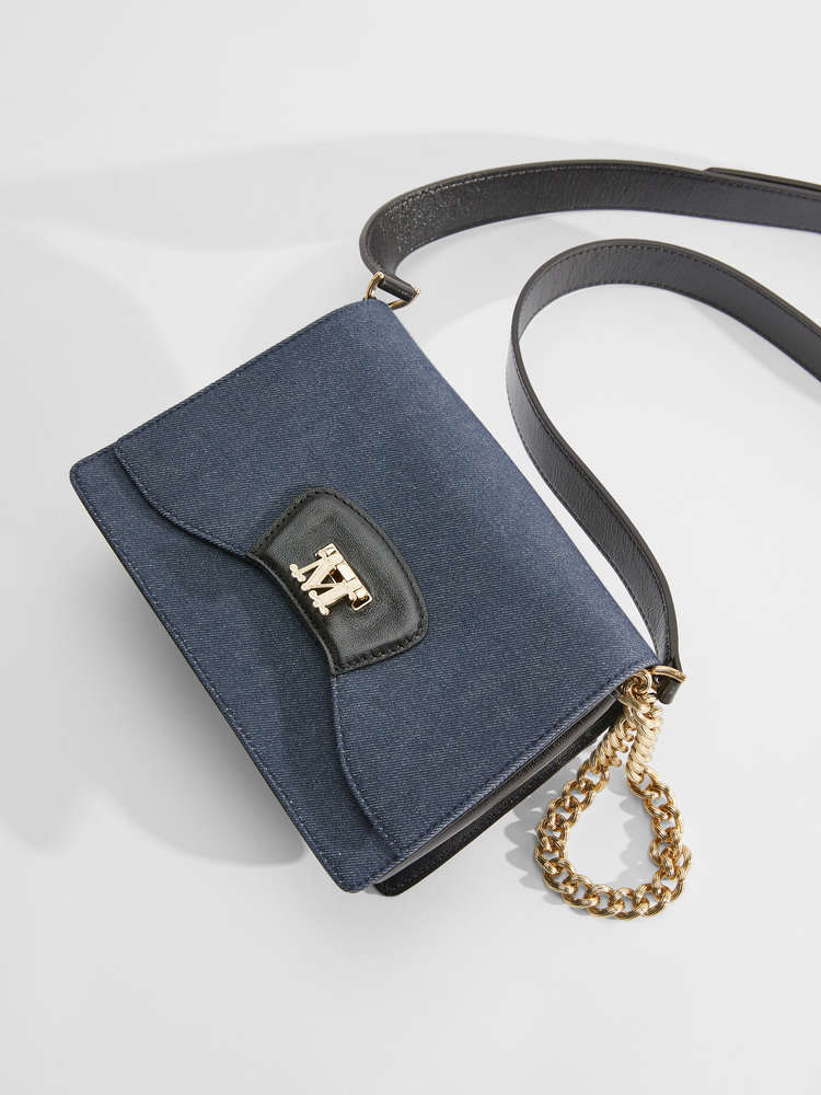 Cotton denim clutch