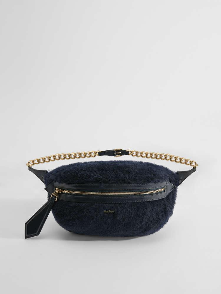 Alpaca, wool and silk belt bag