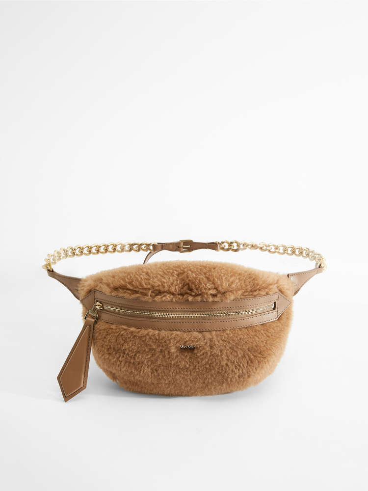 Camel and silk belt bag