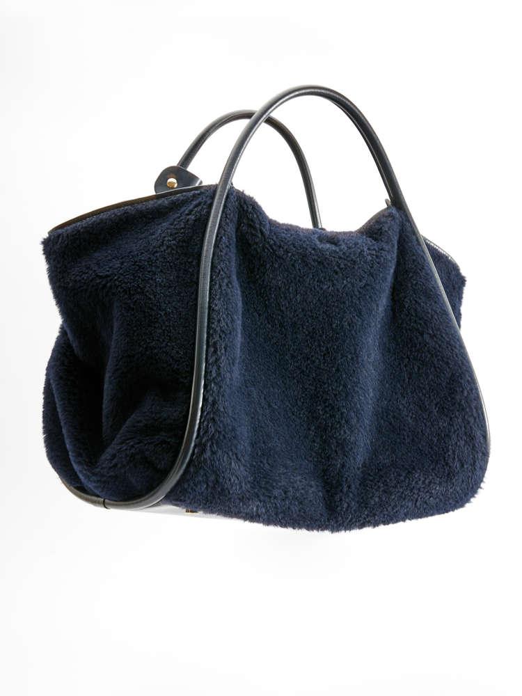 Silk, wool and alpaca shopper bag