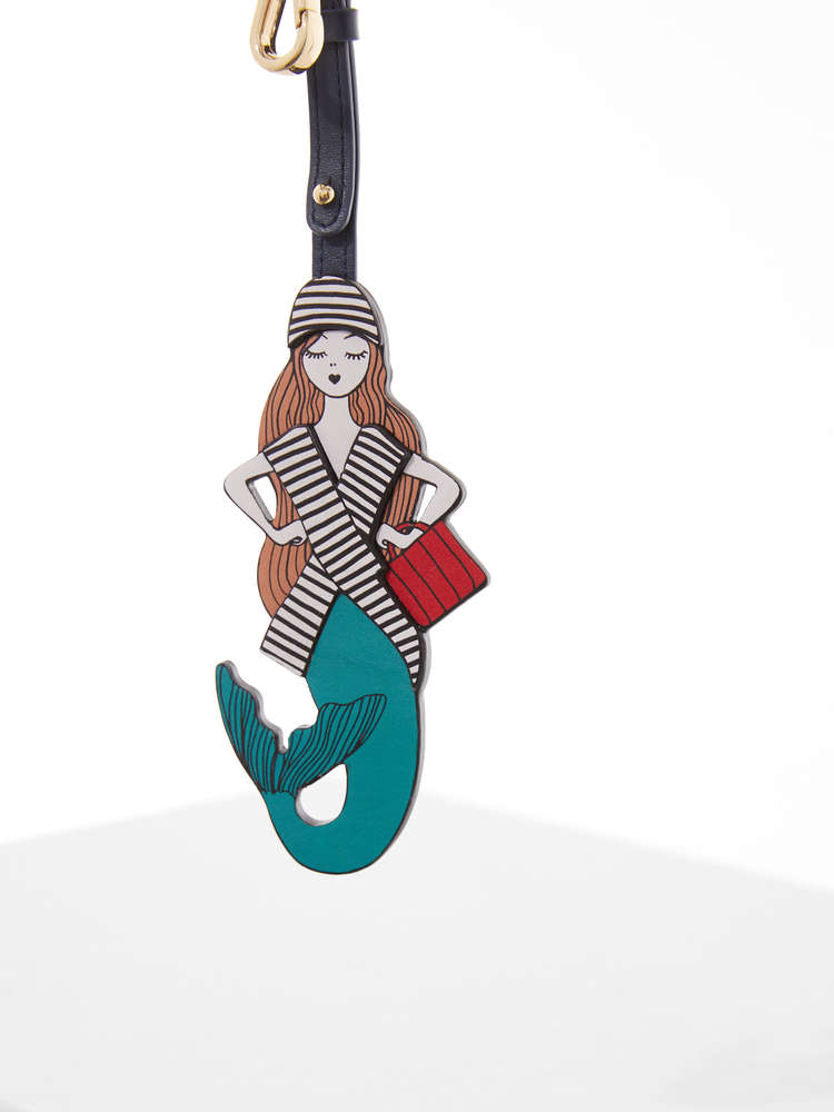 Mermaid charm in leather