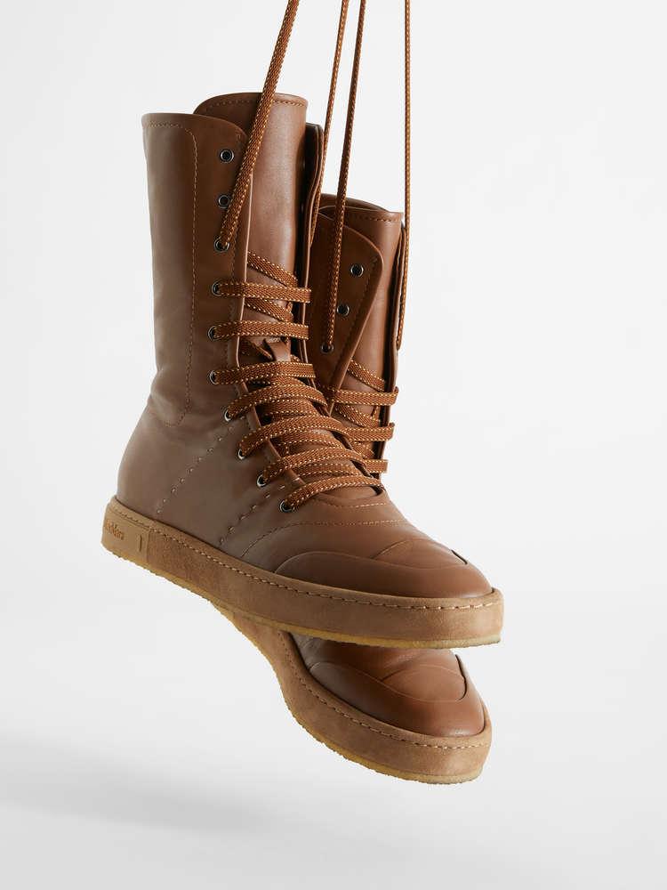 Sneakers boxeur en cuir