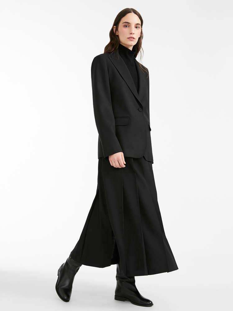 Wool gabardine blazer