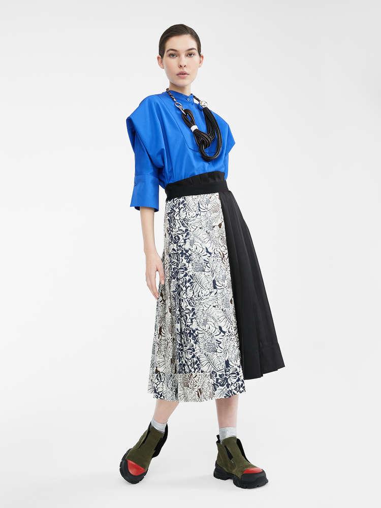 Wool flannel skirt