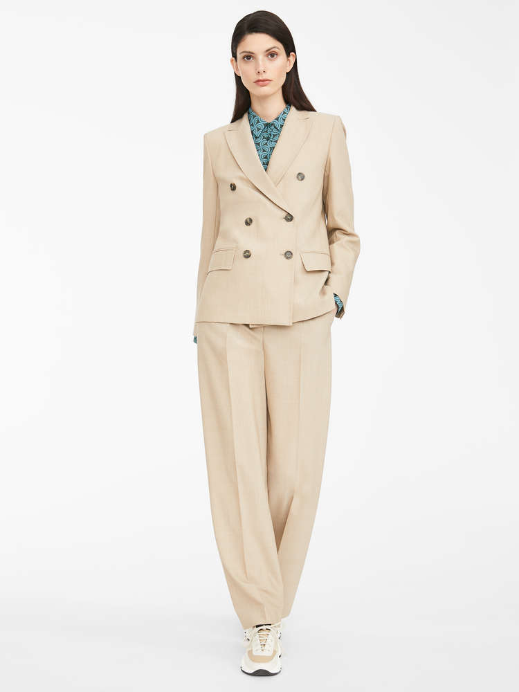 Plain weave trousers