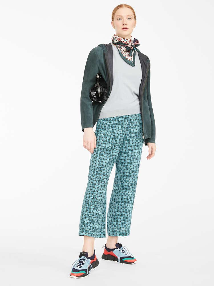 Silk crepe de chine trousers
