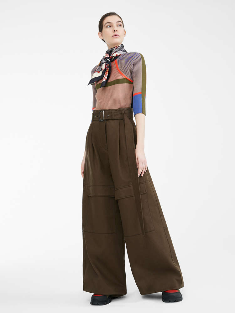 Re-Find cotton bull trousers