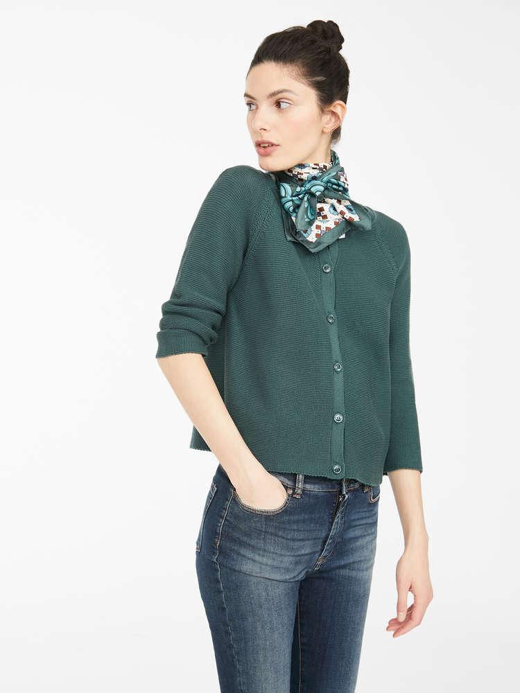 Cotton cordelet cardigan