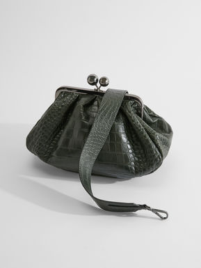 Medium croc-print leather Pasticcino Bag
