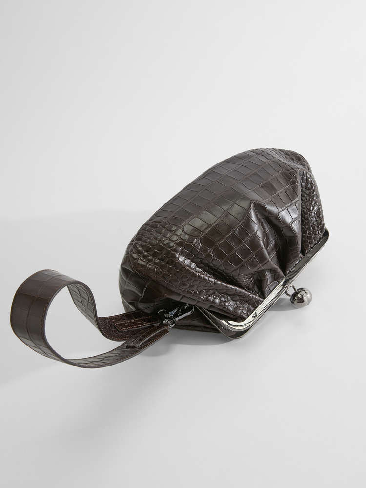 Medium croc-print leather Pasticcino Bag