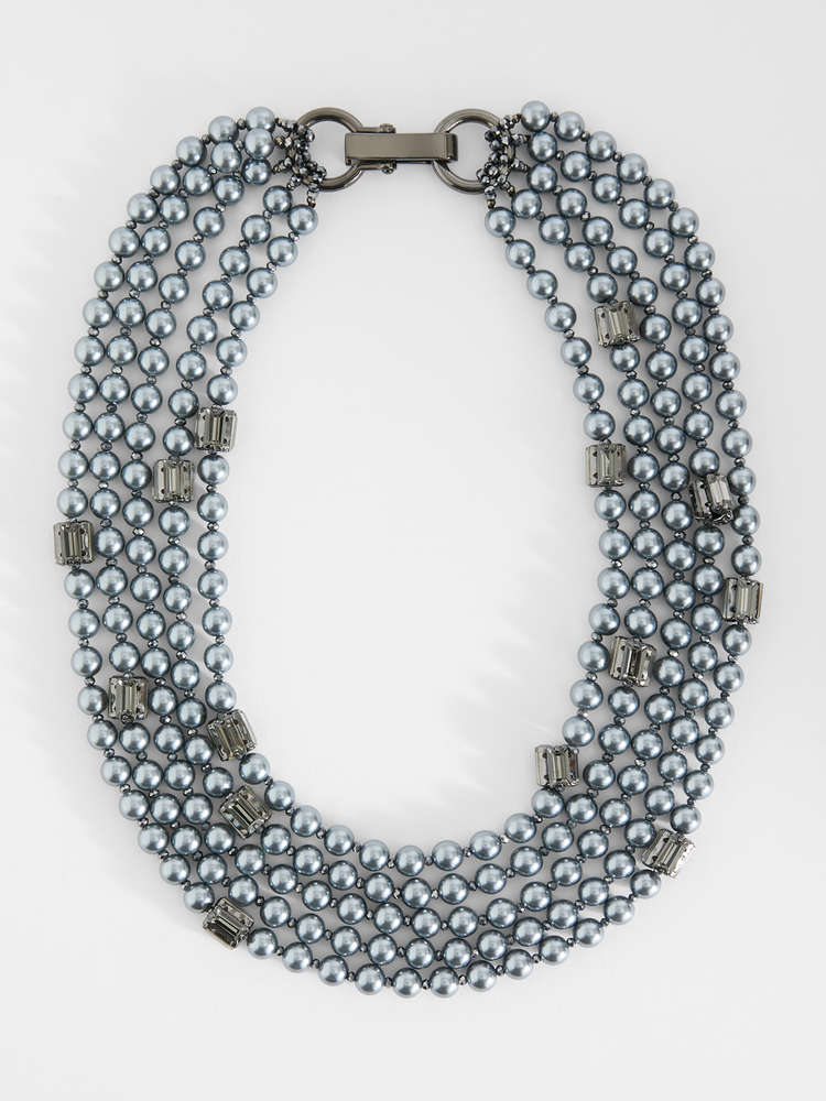 Multi-strand necklace with beads