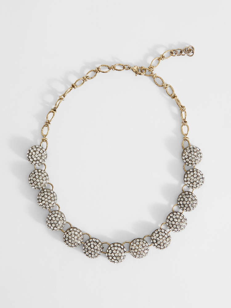 Chain necklace with sphere details