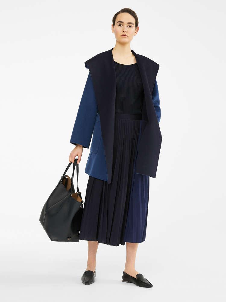 Cappotto reversibile in lana