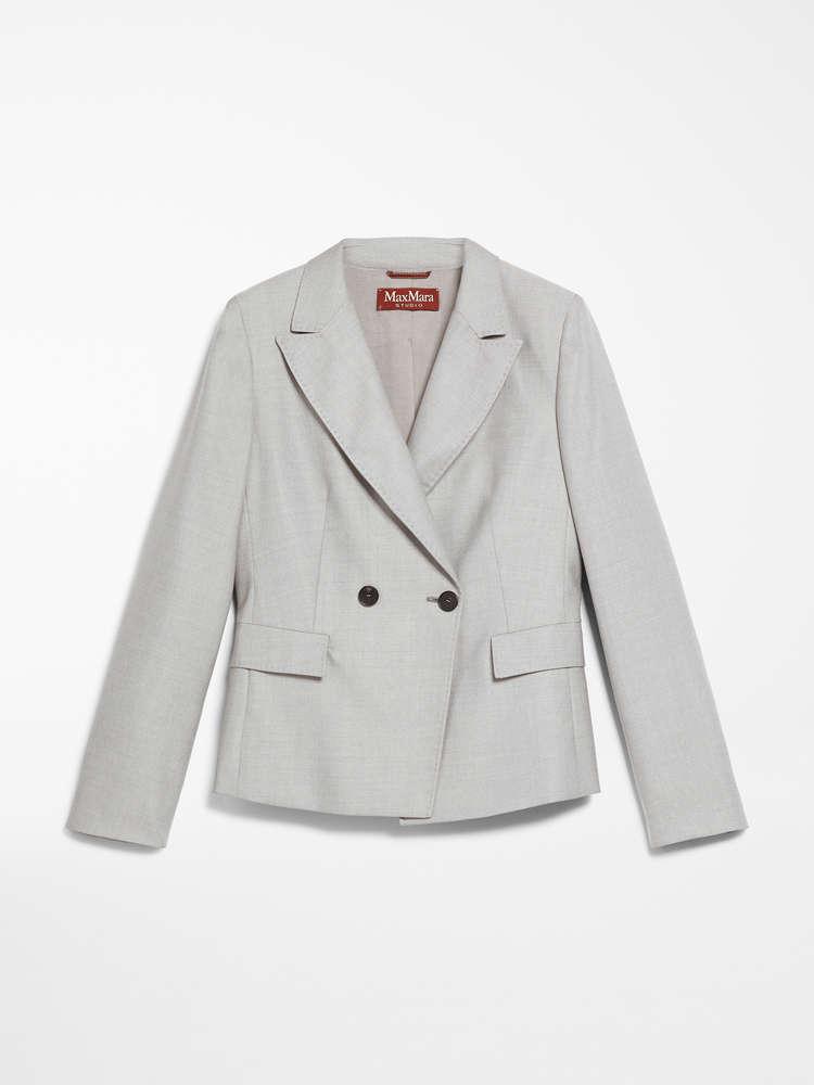 Wool and silk blazer