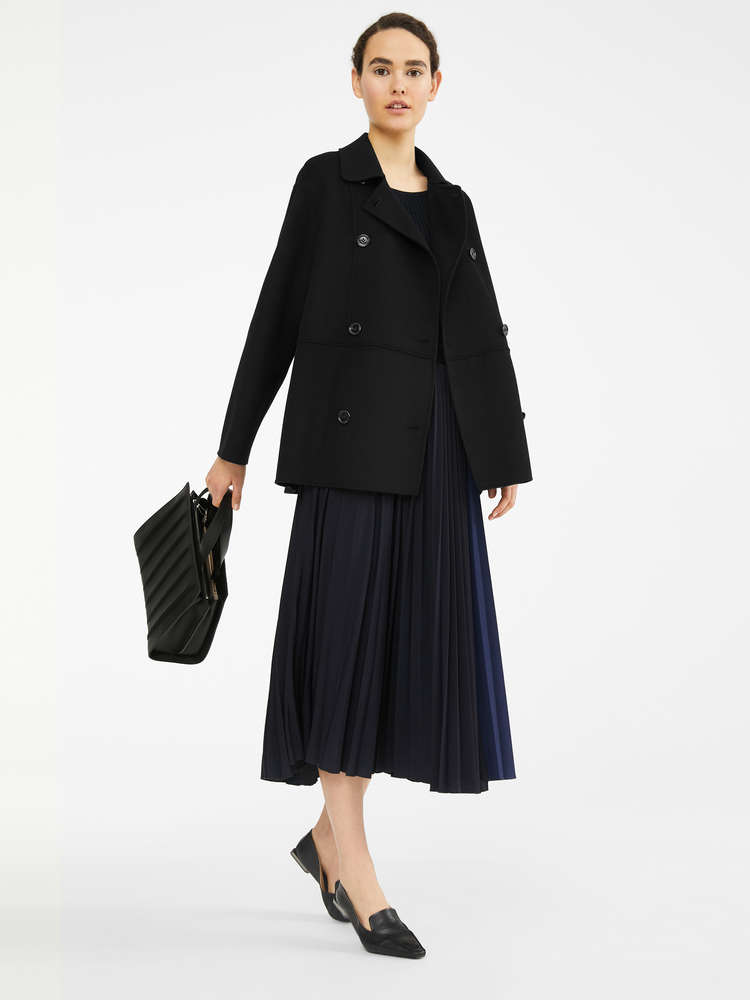 Wool, cashmere and silk coat