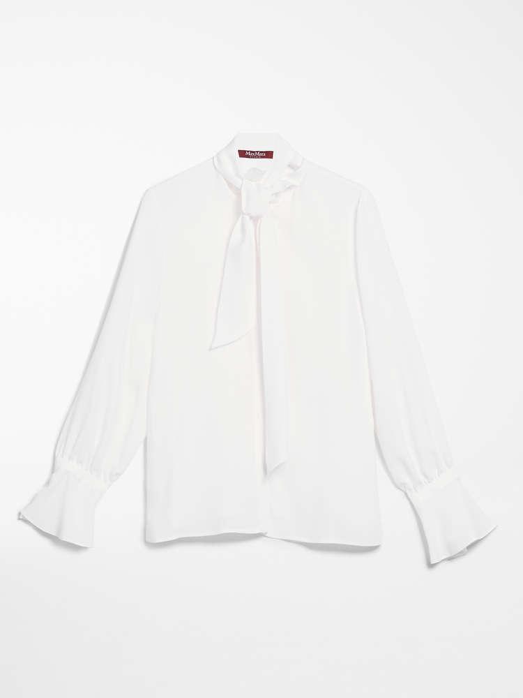 Shirt in silk twill