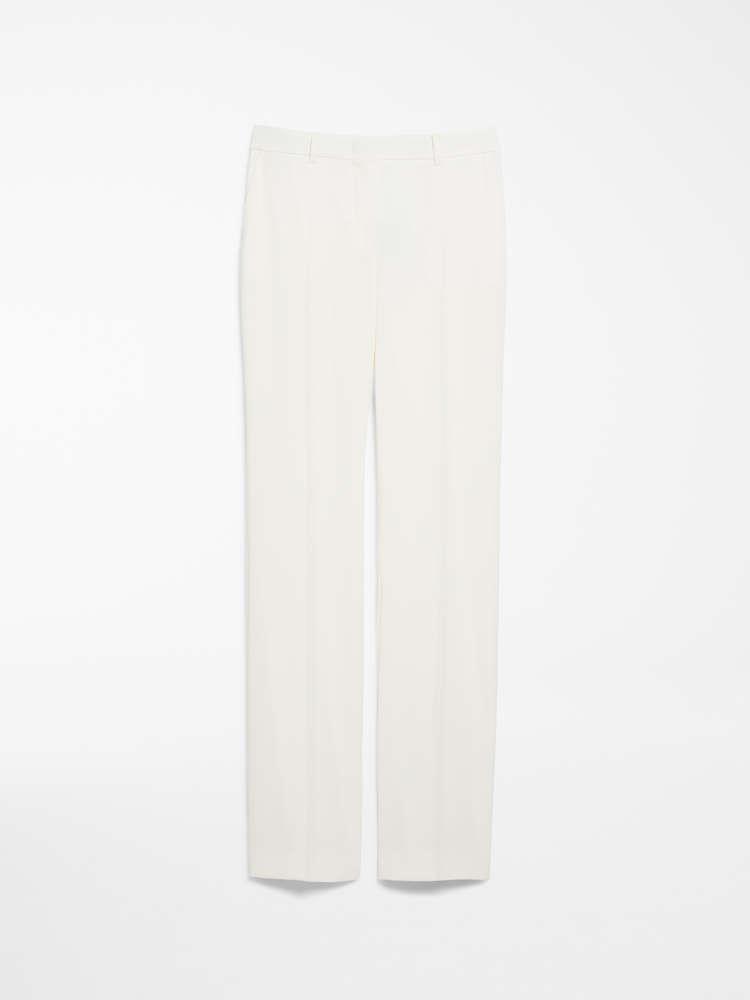 Wool crepe trousers