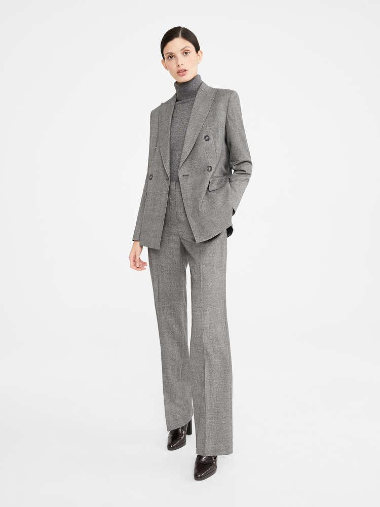 Wool flannel trousers